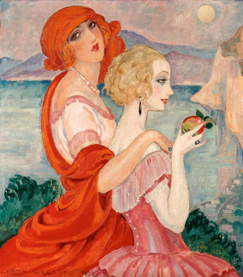 Gerda Wegener. On the road to Anacapri. 1922