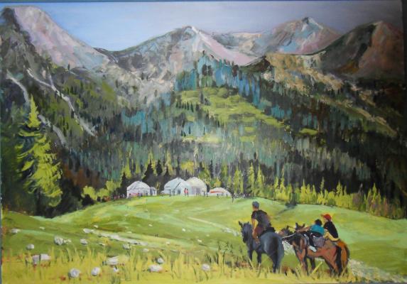 Егор Тагинцев. В горах Киргизии