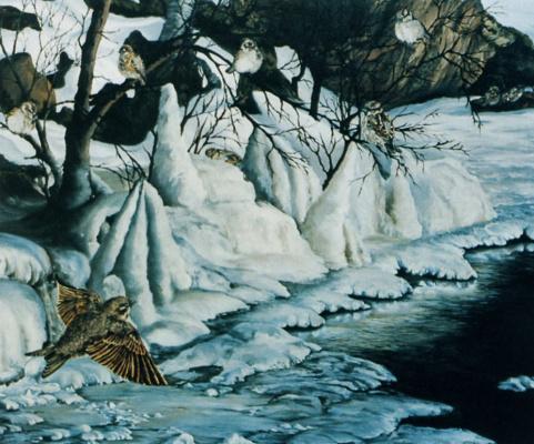 Сюзанна Лабри. Зимний пейзаж