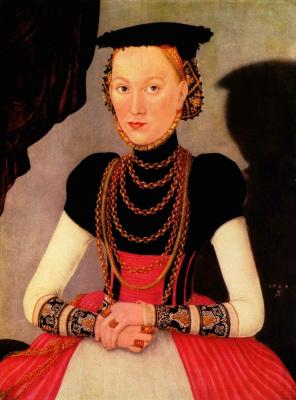 Lucas the Younger Cranach. Portrait of a lady