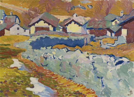 Giovanni Giacometti. Spring in mountain village