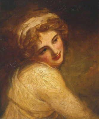 George Romney. Lady hamilton in the image of the bacchante