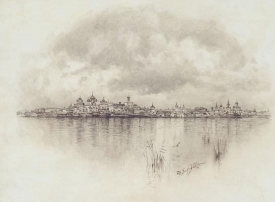 Николай Николаевич Хохряков. Rostov from Nero lake