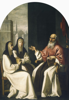 Francisco de Zurbaran. Saint Jerome with Saint Paula and Saint Eustachia