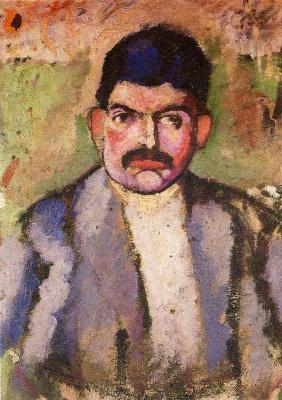Marcel Duchamp. Portrait of a man with a mustache