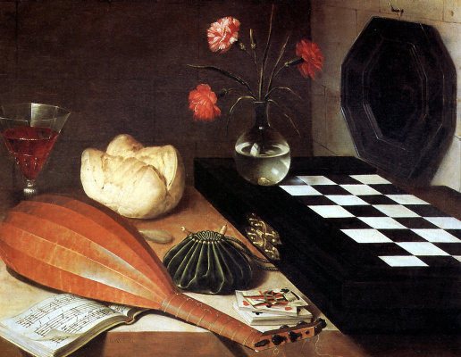 Luben Bozhen. Still life with chessboard