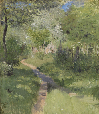 Isaac Levitan. Path in the woods