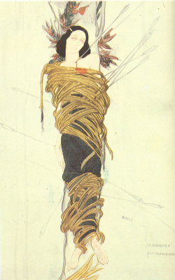 "Lev Samoilovich Bakst (Leon Bakst). Costume design for the mystery of Gabriele d'annunzio ""the Martyrdom of Saint Sebastian"""