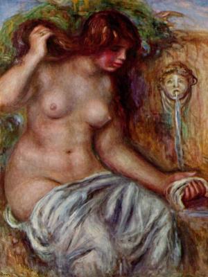Pierre-Auguste Renoir. The woman at the source