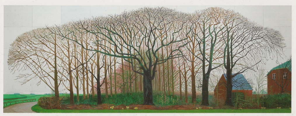 David Hockney. Tall trees near Warter