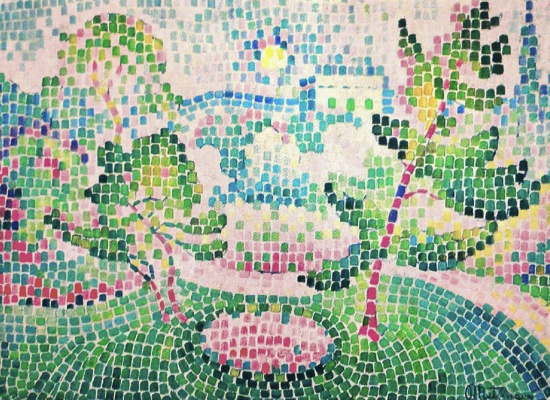 Jean Metzinger. Landscape with a fountain