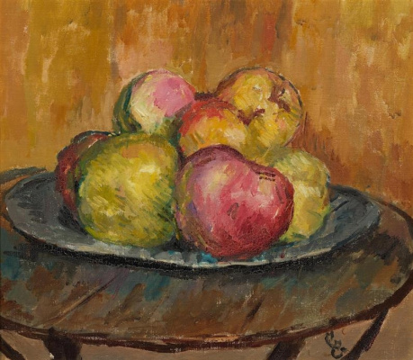 Giovanni Giacometti. Apples on a plate