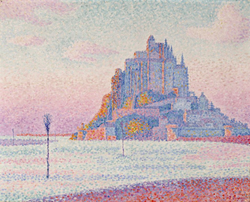 Paul Signac. Mont-Saint-Michel. Setting sun