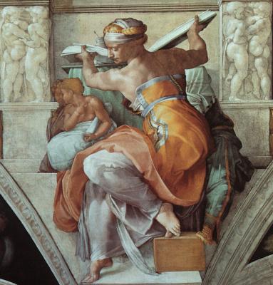 Michelangelo Buonarroti. The Libyan sibyl