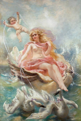 The goddess of water. A panel-picture for the concert hall mansion S. P. von Derviz in St. Petersburg