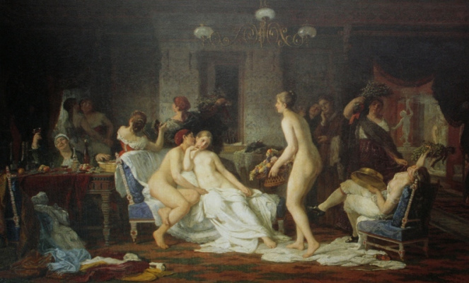 Firs Sergeevich Zhuravlev. Bachelorette party in the bath. 1885