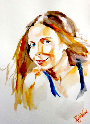 Valery Frolov. Портрет девушки