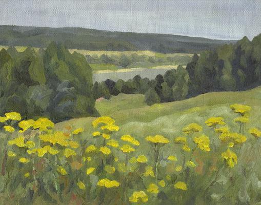 "Andrei Ivanovich Borisov. Study for the painting ""Joyful Landscape"""