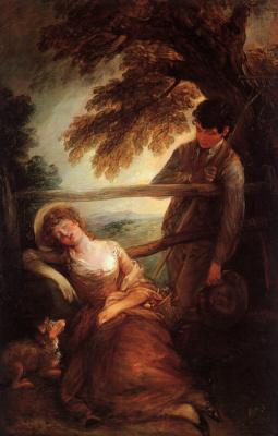 Томас Гейнсборо. Спящая девочка