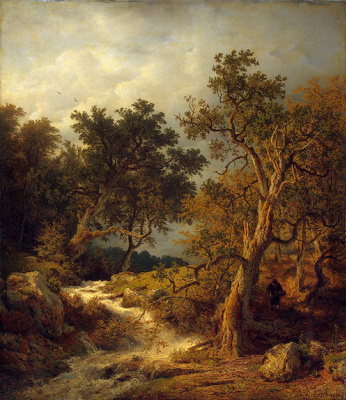 Andreas Achenbach. Landscape with a brook