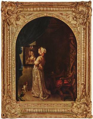Франц ван Мирис Старший. Дама перед зеркалом