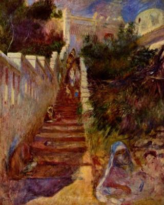 Pierre Auguste Renoir. Stairs in Algiers
