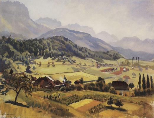 Zinaida Serebryakova. Alps, Annecy