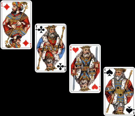 Adolf Iosifovich Charlemagne. Kings, a project of a satin deck of cards by Russian artist Adolf Charlemagne