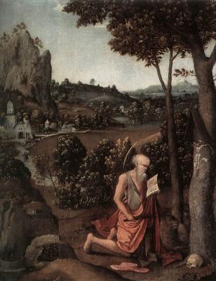 Иоахим Патинир. Святой Иероним молится
