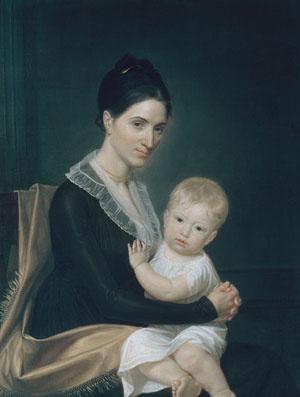 Джон Вандерлин. Г-жа Марин Уиллетт и ее сын Маринус-младший