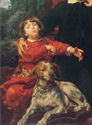 Jan Matejko. Portrait of the artist's children. Fragment