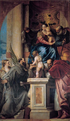 Paolo Veronese. Madonna on the throne with the saints