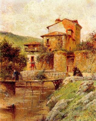 Томас Кампусано Агирре. Мост через реку