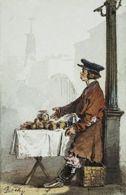 Михай Зичи. Продавец яблок и пряников