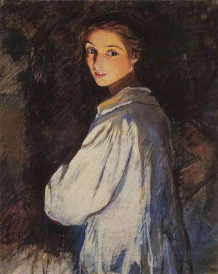 Zinaida Serebryakova. A girl with a candle. Self portrait