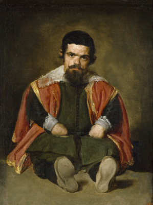 Diego Velazquez. Portrait of the Court Dwarf Don Sebastien del Morra, nicknamed El Primo