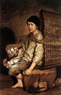 Джакомо Черути. Мальчик с корзиной