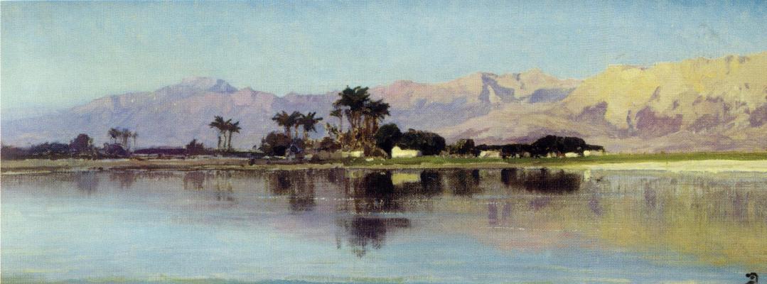 Vasily Dmitrievich Polenov. Neal Theban pond