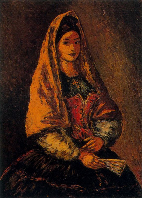 Arturo Souto. Woman with a fan