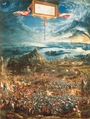 Альбрехт Альтдорфер. Битва Александра Македонского с царем Дарием при Иссе