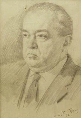 Gordon Meerovich Grigory (1909 - 1995). Portrait of the conductor of the Bolshoi theatre Yuri Fayer F.