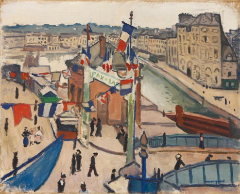 Albert Marquet. National holiday at Le Havre