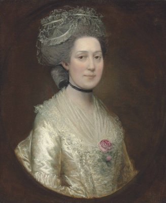 Thomas Gainsborough. Portrait Of Sarah Langston