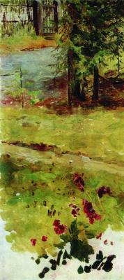 Elena Dmitrievna Polenova. Summer landscape. Gate