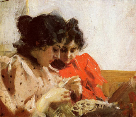 Anders Zorn. Two girls