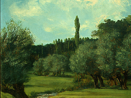 Gustave Courbet. Bretoner in the Department of Indre