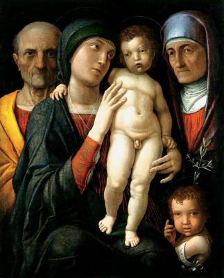 Andrea Mantegna. Holy family