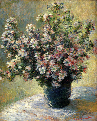 Claude Monet. Vase with flowers