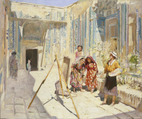 Pavel Petrovich Benkov. Artists in Shahi Zinda