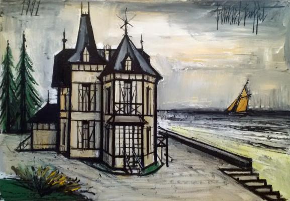 Bernard Buffet. Villa in Normandy